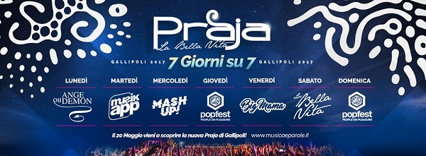 Estate 2017 Praja Gallipoli: programma, date ed eventi